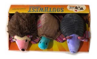 Pack 3 Juguetes Peluches Perros Animales Texturas Y Sonidos