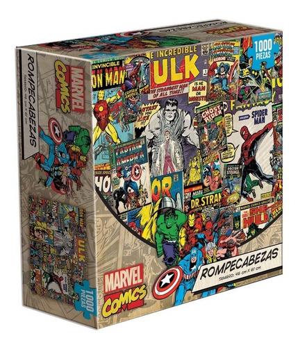 Marvel Comics Collage Avengers Thor Rompecabezas 1k Novelty