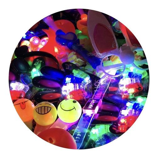 Imagen 1 de 10 de Pack Cotillon Luminoso Combo Led Fluo 50 Art 20/25 Personas