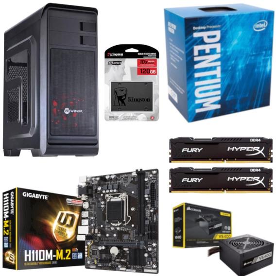 Pc Hunter Pentium G4560 H110m M2 Hx 16gb Vs400 Ssd 120gb