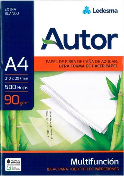 Resma Papel 90gr Ledesma A4 Multifuncion Autor Hojas Laser
