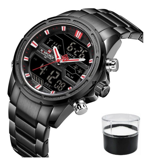 Relógio De Luxo Analógico Digital Naviforce 9138m - Top !!
