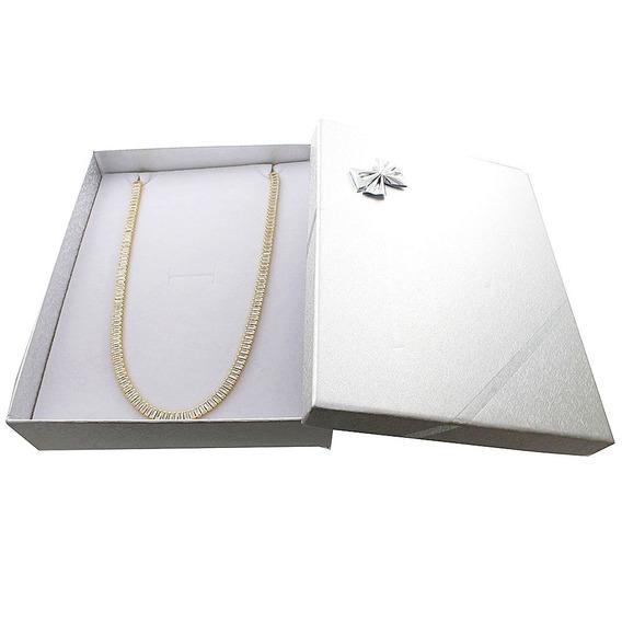 Corrente Banhada A Ouro 18k 55cmx5mm 21g.+box Exclusivo.