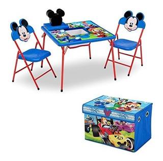 Delta Juego De Muebles Para Niños 4 Piezas Mesa De Almacenam
