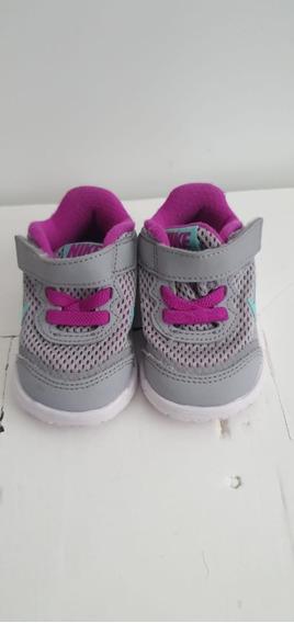 Tênis Nike Infantil Cinza E Rosa - Tamanho 2c Eua