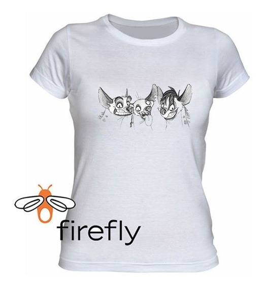 Remera El Rey Leon Mujer Blanco Coleccion 3 Firefly