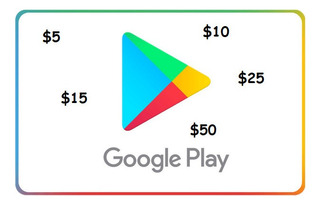 Tarjeta Google Play Store Desde $ 5 Free Fire