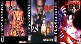 Jogos Play 1 Ps1 Tekken 1,2 E 3, Serve Em Psp, Pc E Ps2 Fat