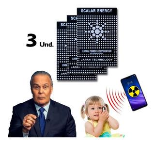 3 Chip Adesivo Neutralizador De Poluição Eletromagnética