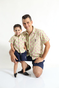 Kit Camisas Social Tal Pai Tal Filho Manga Curta