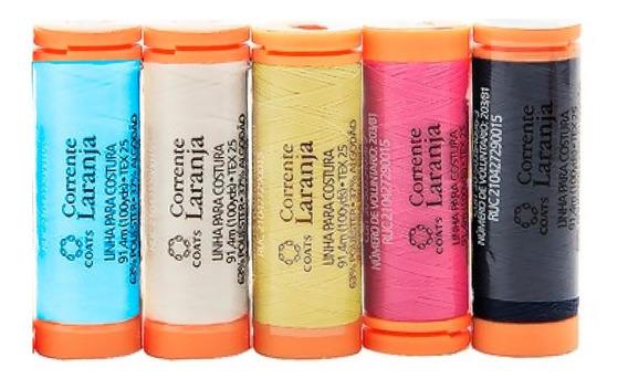 Linha Para Costura Colorido - Kit 5 Unidades