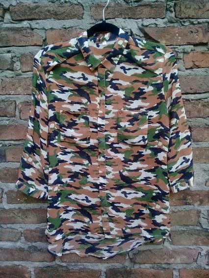 Camisa Camuflada Talle L Gasa