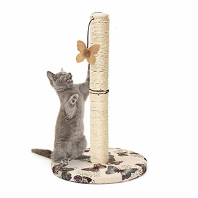 Arranhador Gatos Poste De Sisal Com Brinquedo 48 Cm