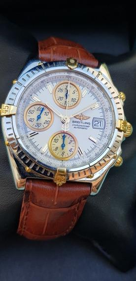Relógio Breitling Chronomat Aço E Ouro