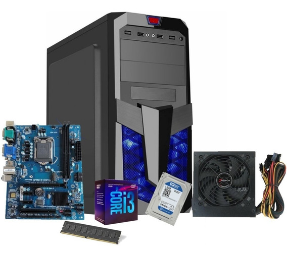 Pc Gamer Intel Core I3 8100 Ddr4 8gb Hd 1tb Fonte 500w