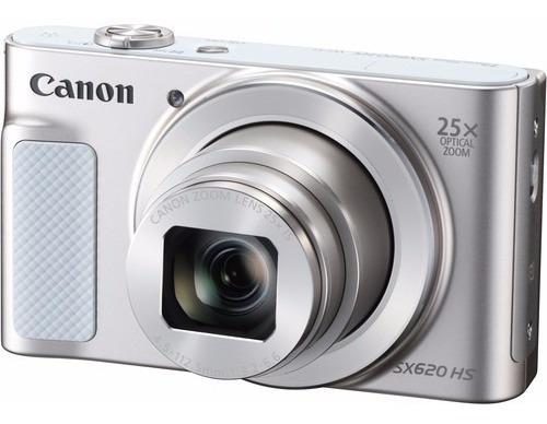 Câmera Canon Powershot Sx620 Hs Prata Sx620hs 12x S/juros