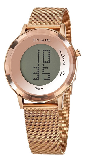 Relógio Seculus Feminino Digital 77046lpsvrs2 - Rosé