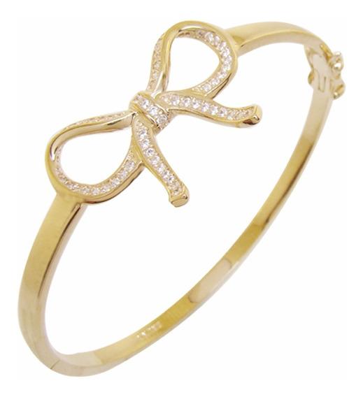 Braceletes Femininos Dourado Delicado Laço Bruna Semijoias