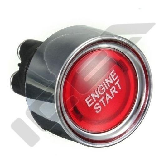 Botão Partida Start Engine Led Iluminado Vermelho Universal