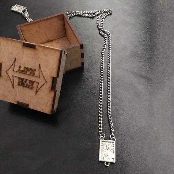 Corrente Cordão Escapulário Aço Inox 60cm