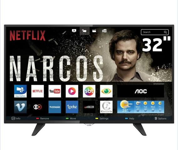 Smart Tv Led 32 Hd Aoc Le32s5970 Com Wi-fi, Botão Netflix