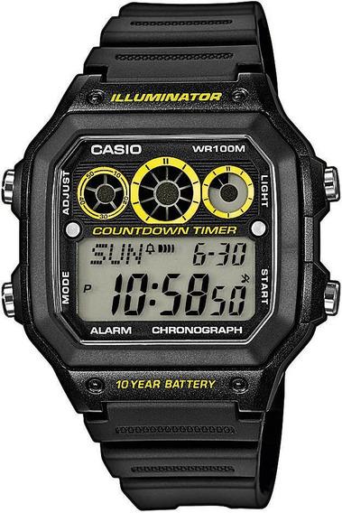 Relogio Casio Ae-1300 Countdown Timer 100m Wr 100% Novo
