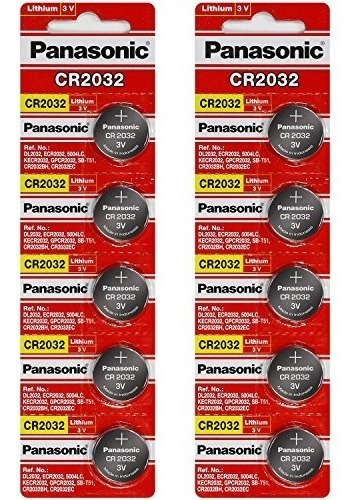 [10 Pcs] - Panasonic Cr2032 3v Bateria De Celda De Moneda De
