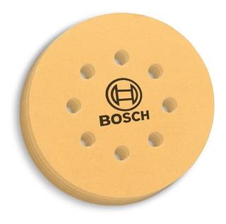 Set 5 Lijas 125 Mm Abrojo Lijadora Rotorbital Bosch Grano 80