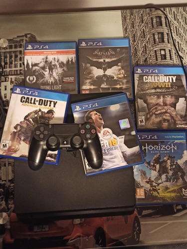 Ps4 Slim 500gb Con 6 Juegos Fisicos Y 3 Digitales