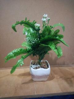 Planta Artificial De Helecho Con Maceta