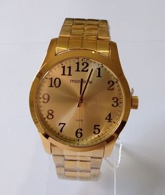 Relógio Masculino Dourado Mondaine Original Ref99192gpmvde2.