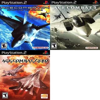 Ps2 Patch Promoção Coleção 3 Jogos Ace Combat