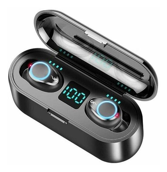 Fone De Ouvido Tws F9 Airdots Touch Sem Fio Bluetooth V5.0