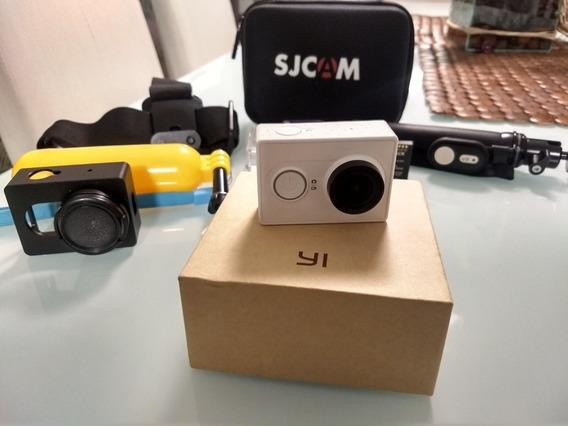 Câmera Xiaomi Yi Full Hd Com Acessórios Sportcam Tipo Gopro