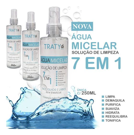 Solucao De Limpeza Facial 7/1 Agua Micelar 250ml - 3 Frascos