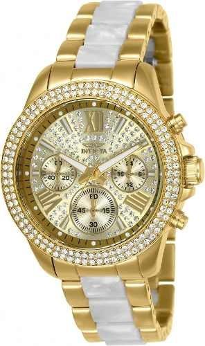 Relógio Invicta Feminino 20511 Banhado Ouro 18k Original