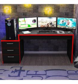 Mesa Para Computador Desk Gamer Drx 6000 Siena Móveis Cewt