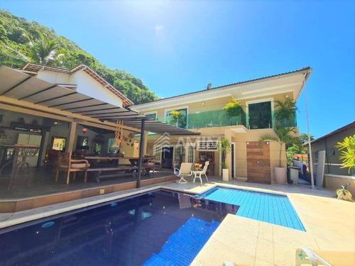 Linda E Moderna Casa Com Piscina, Em Condomínio De Alto Padrão, Na Região Oceânica. 5 Quartos+3 Suítes +piscina +4 Vagas. - Ca0810