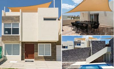 Residencia En Zibata, 4 Recamaras Una En Pb, 4.5 Baños, Roof Garden, Alberca..