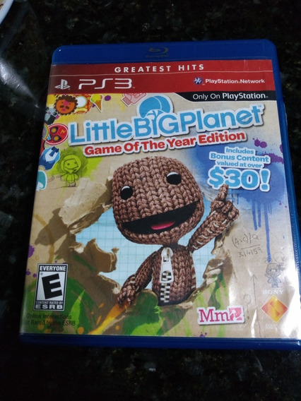 Jogo Ps3 Little Big Planet Midia Fisica