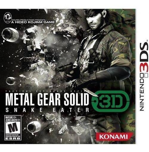 3ds Metal Gear Solid: Snake Eater Novo Lacrado