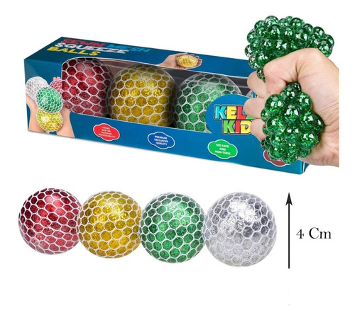 Squishy Ball Pelota Esfera Orbis Antistress Niños Juguete X3