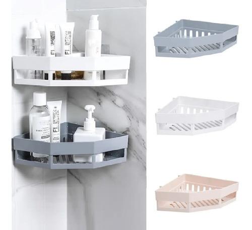 Imagem 1 de 6 de Porta Shampoo E Sabonete Suporte De Canto Parede Banheiro