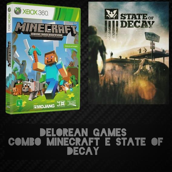 Combo Minecraft E State Of Decay Mídia Digital Xbox 360