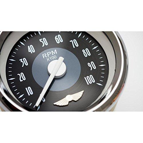 Speedometer Gauge - SAE American Classic Black, Black Modern Needles, Chrome Trim Rings, Style Kit DIY Install Aurora Instruments GAR22ZEXHABCC Speedometer Gauge