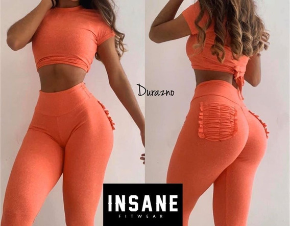 Conjunto Deportivo Pocket Plisado Efecto Push Up Insane Fit