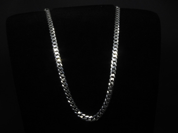 Corrente Masculina Italiana Grumet Em Prata 925 Maciça 60 Cm