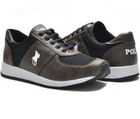 Tenis Sapatenis Masculino Polo Plus Jogging Original Envio J
