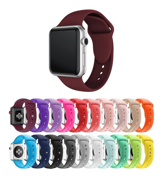 Pulseira Silicone Para Apple Watch 1 2 3 4 38/40mm 42/44mm