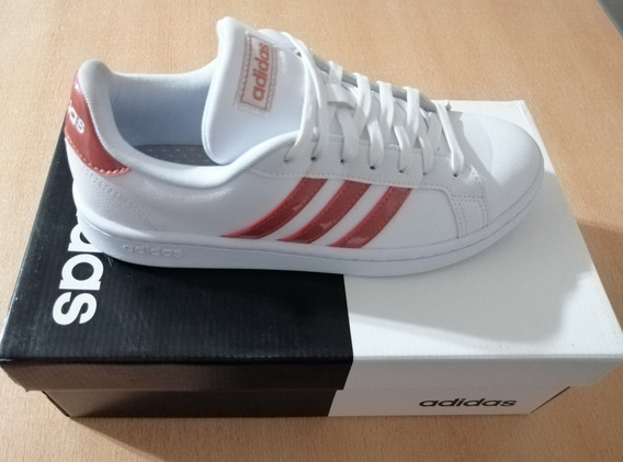 Zapatillas adidas Grand Court Ee8178 Talle 39-40 Arg. Mujer